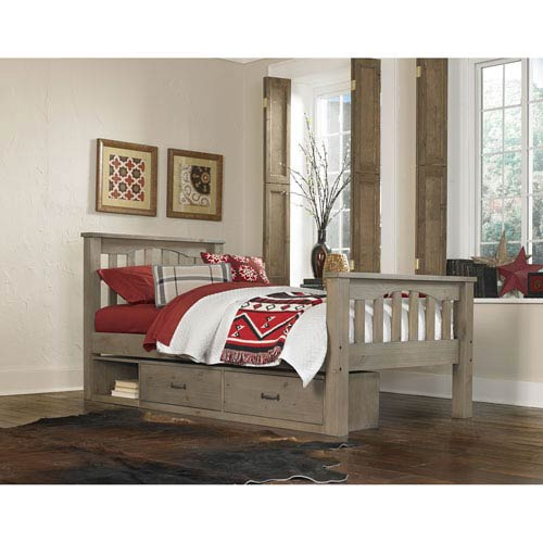 Highlands Driftwood Harper Twin Bed with Storage