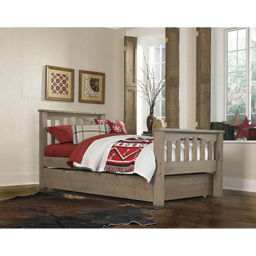 Highlands Driftwood Harper Twin Bed with Trundle