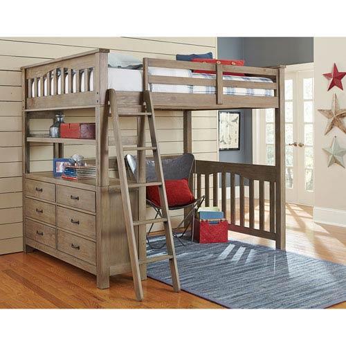 Highlands Driftwood Full Loft Bed