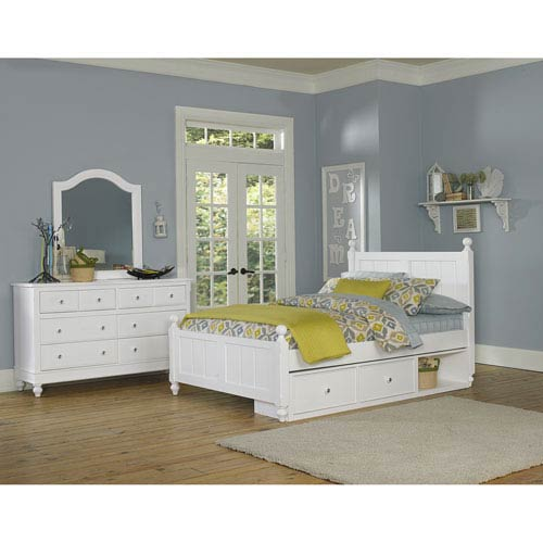 Lake House White Kennedy Full Bed with Storage