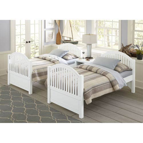 Lake House White Adrian Twin Bed