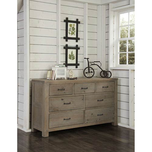 NE Kids Highlands Driftwood 7 Drawer Dresser