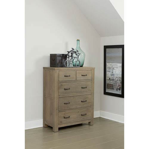 Highlands Driftwood 5 Drawer Chest