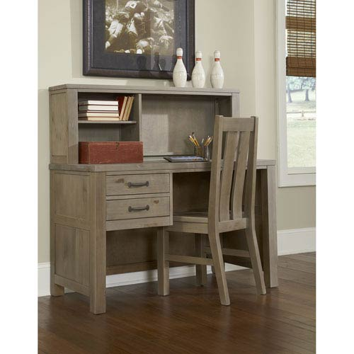 Highlands Driftwood Desk with Hutch
