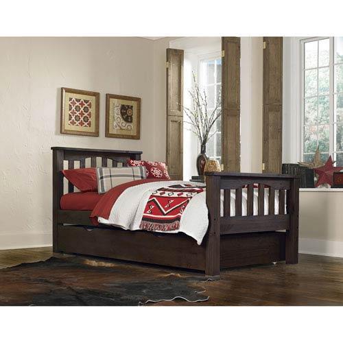 Ne Kids Highlands Espresso Harper Twin Bed With Trundle 11050nt