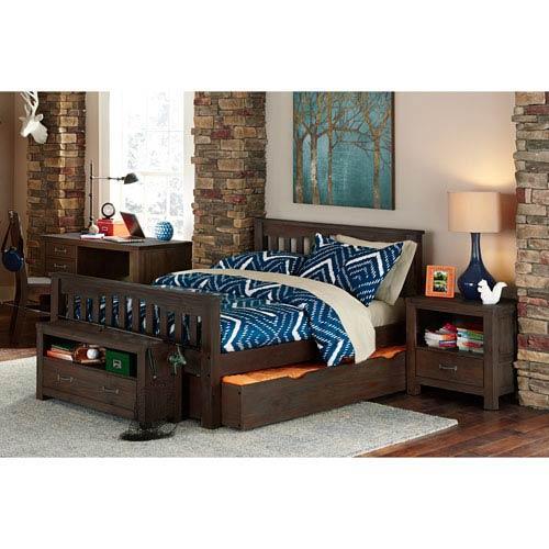 Highlands Espresso Harper Full Bed with Trundle