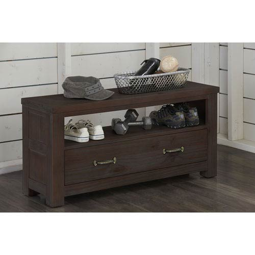 NE Kids Highlands Espresso Dressing Bench
