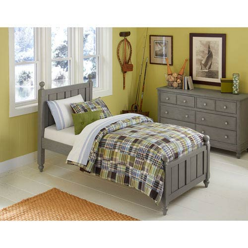 Lake House Stone Twin Kennedy Panel Bed
