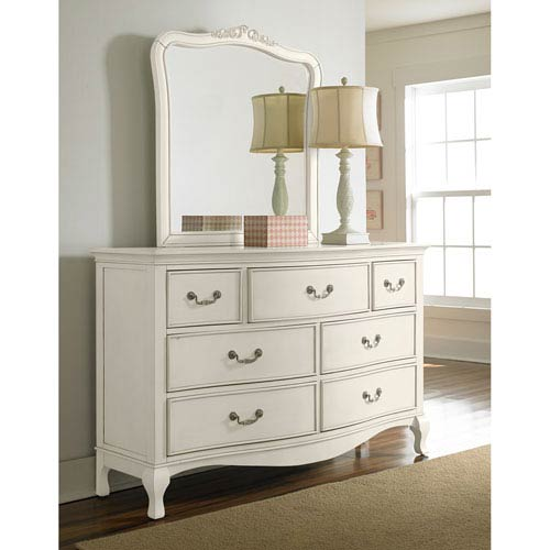 Kensington Antique White Dresser with Mirror