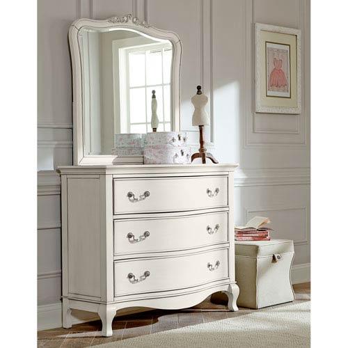 Ne Kids Kensington Antique White 3 Drawer Single Dresser With Mirror ...