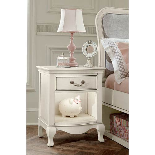 Kensington Antique White Nightstand with Lights