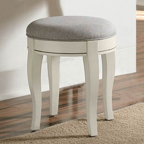 Kensington Antique White Stool