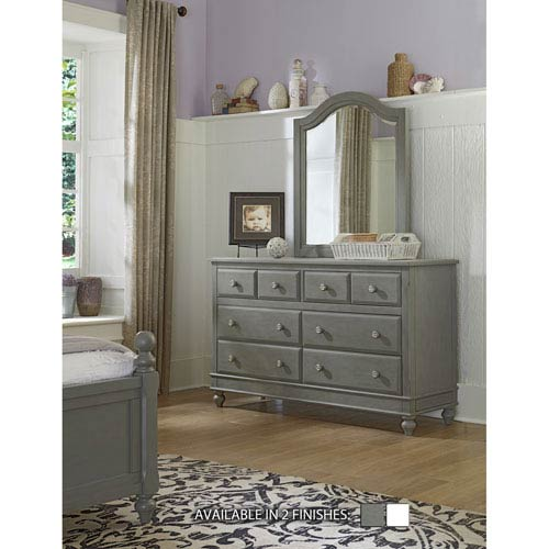 Lake House Stone 8 Drawer Dresser with Mirror