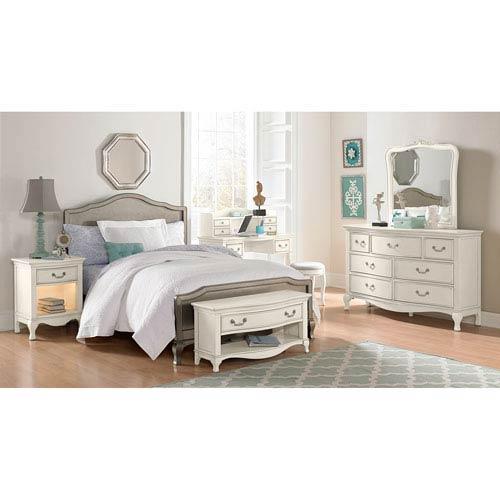 Kensington Antique Silver Full Charlotte Panel Bed