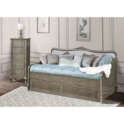 Kensington Antique Silver Elizabeth Daybed with Trundle