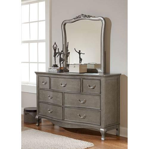Kensington Antique Silver Dresser with Mirror
