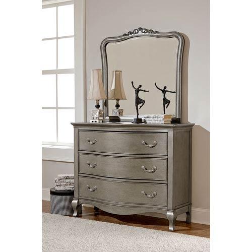 Ne Kids Kensington Antique Silver 3 Drawer Single Dresser With Mirror