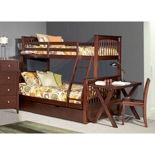 Pulse Chocolate Twin Over Full Bunk Bed with Trundle