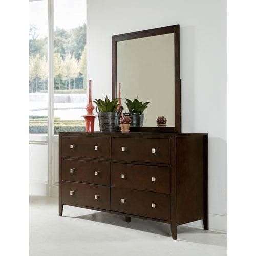 Pulse Chocolate Dresser with Mirror