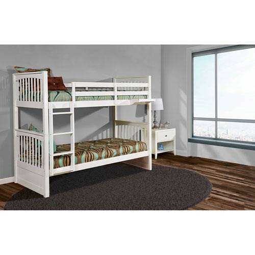 Pulse White Twin Bunk Bed