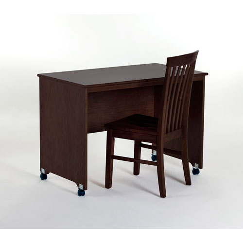 School House Chocolate Mobile Desk with Chair