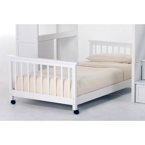 School House White Twin Lower Stair Loft Bed