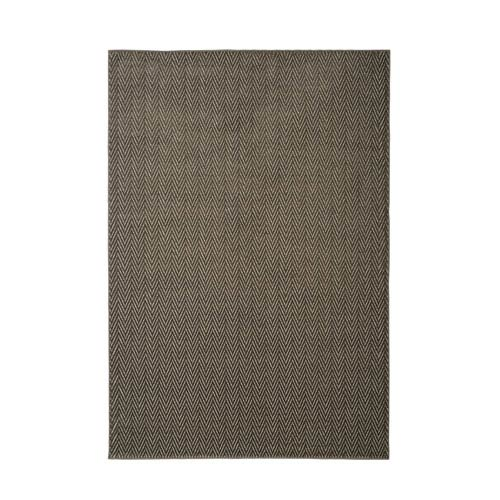 Metro Rian Charcoal and Ivory Rectangular: 5 Ft 3 In x 7 Ft 6 In Rug