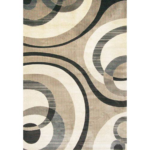 Abacasa Sonoma Cicero Grey Rectangular: 5 Ft. 3 In. x 7 Ft. 6 In. Rug
