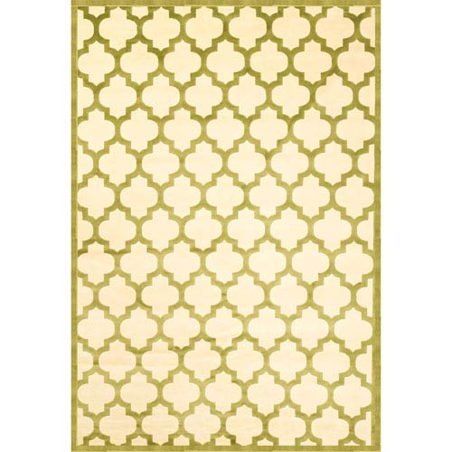 Abacasa Sonoma Trellis Apple Green Rectangular: 5 Ft. 3 In. x 7 Ft. 6 In. Rug
