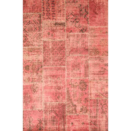 Abacasa Sonoma Old Raspberry Rectangular: 5 Ft. 3 In. x 7 Ft. 6 In. Rug