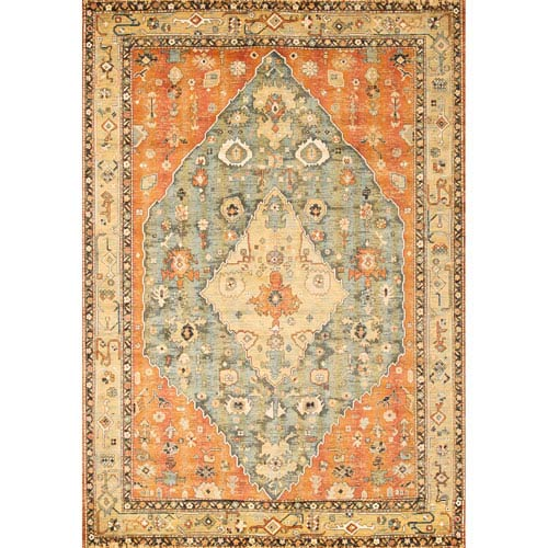 Abacasa Sonoma Jewels Aqua Rectangular: 5 Ft. 3 In. x 7 Ft. 6 In. Rug