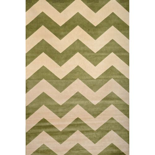 Abacasa Sonoma Green and Ivory Rectangular: 5 Ft 3 In x 7 Ft 6 In Rug