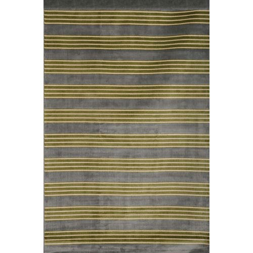 Abacasa Sonoma Light Blue and Green Rectangular: 5 Ft 3 In x 7 Ft 6 In Rug