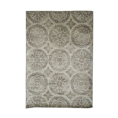 Sonoma Ana Silver and Charcoal Rectangular: 5 Ft 3 In x 7 Ft 6 In Rug