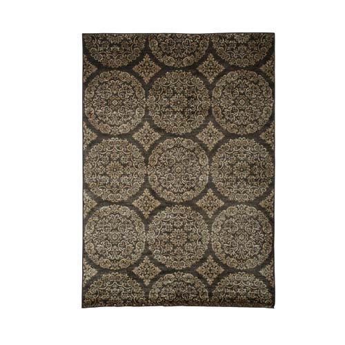 Abacasa Sonoma Ana Gold and Chocolate Rectangular: 5 Ft 3 In x 7 Ft 6 In Rug