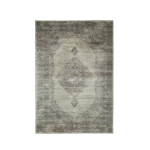 Abacasa Sonoma Bryson Silver and Charcoal Rectangular: 5 Ft 3 In x 7 Ft 6 In Rug