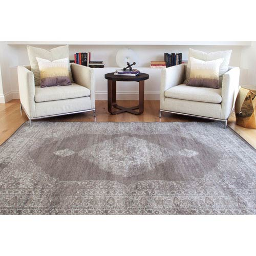 Abacasa Sonoma Chocolate and Silver Rectangular: 5 Ft 3 In x 7 Ft 6 In Rug