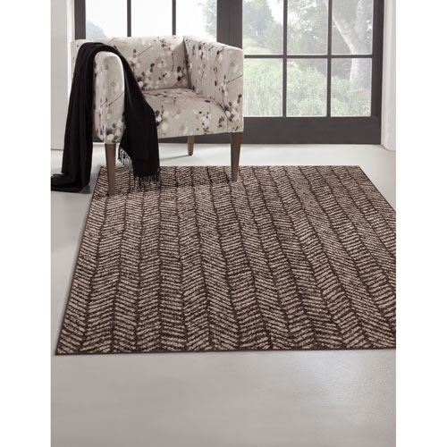 Abacasa Sonoma Ivory and Brown Rectangular: 5 Ft. 3 In. x 7 Ft. 6 In.  Rug