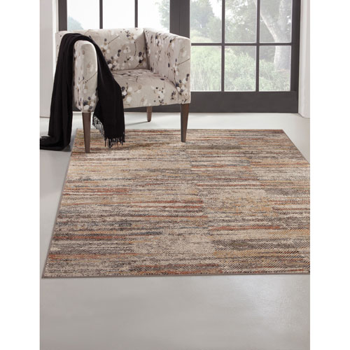 Abacasa Sonoma Multicolor Rectangular: 5 Ft. 3 In. x 7 Ft. 6 In.  Rug