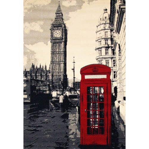 Terra London  Multicolor Rectangular: 3 Ft. 9-Inch x 5 Ft. 6-Inch  Rug