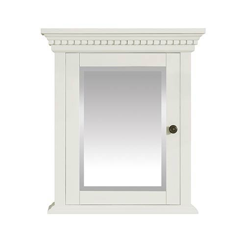 Hastings 24 inch Mirror Cabinet in French White finish