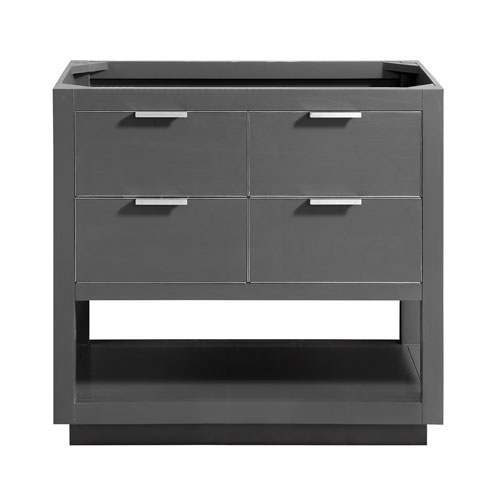 Avanity Allie 36-Inch Twilight Gray Brushed Silver Vanity Only