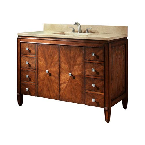 avanity brentwood 49 inch new walnut vanity with galala beige marble top brentwood vs49 nw b. Black Bedroom Furniture Sets. Home Design Ideas
