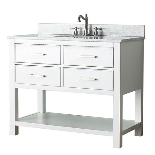 Brooks White 42 Inch Vanity Only
