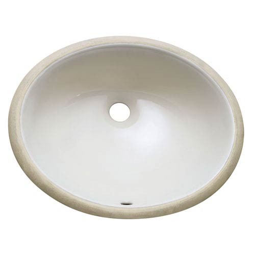 Avanity Undermount 18-Inch Oval Off White Vitreous China Ceramic Sink