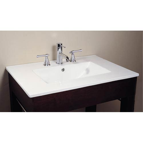 Vitreous China 49-Inch Top with Square Bowl