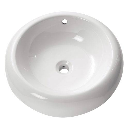 Avanity Above counter 20-Inch White Round Vitreous China Sink