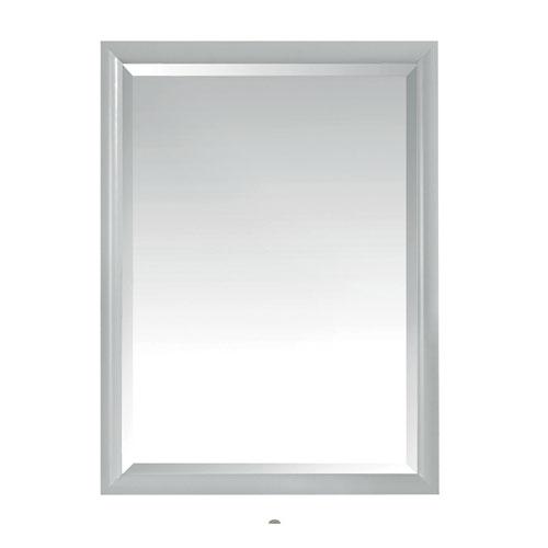 Emma Dove Gray 24-Inch Mirror