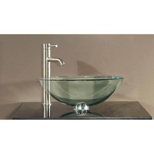 Tempered Glass Vessel Sink - Clear