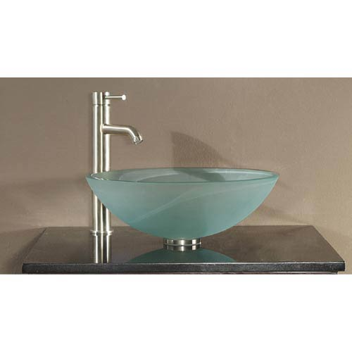 Tempered Glass Vessel Sink - Frosted